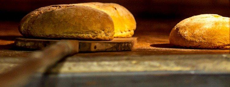 pan en el horno