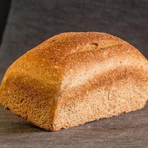 Pan de Molde Ecológico de Trigo Integral Pequeño de Levadura Madre. Cortado