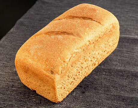 Pan de Molde Ecológico Rústico Semi-Integral de Fermentación Mixta. cortado