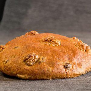 Torta ecológica de ESPELTA con Pasas y Nueces Sin Huevo