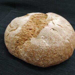 Pan de Hogaza Casero Ecológico de <b>ESPELTA INTEGRAL</b> de Fermentación Mixta. Cortado 5